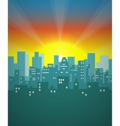Cityscape background Urban landscape vector image