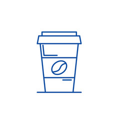 coffee to go line icon concept coffee to go flat vector image