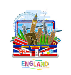 Concept travel or studying english vector