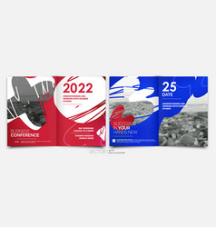 Covers templates set with bauhaus style graphic vector