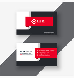 Creative red professional business card template vector