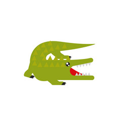 crocodile native animal australia icon on white vector image