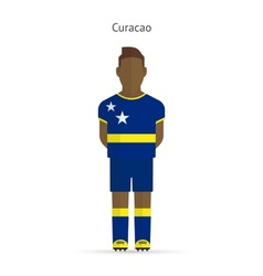 Curacao football player Soccer uniform vector