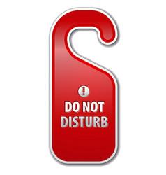 Dont disturb sign vector