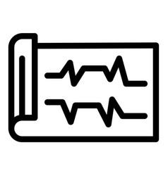 Ecg printout icon outline style vector