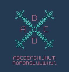 Elegant lineart logo design including the full vector