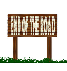 End of the road vector