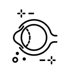 Eye anatomy and human eyeball structure isolated vector