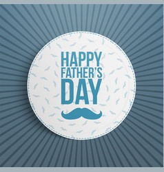 fathers day festive blue and white background vector image