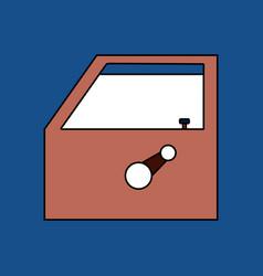 Flat icon design collection car door vector