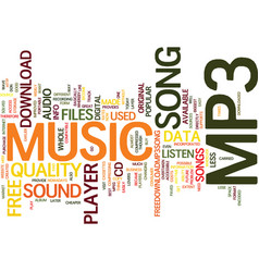 Free mp player song text background word cloud vector