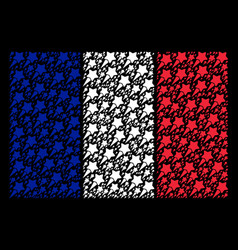 French flag collage of starting star items vector
