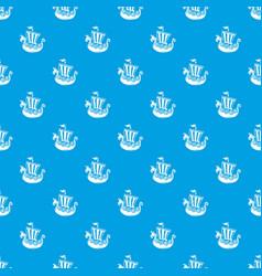 Frigate pattern seamless blue vector