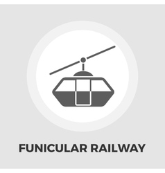 Funicular railway flat icon vector image