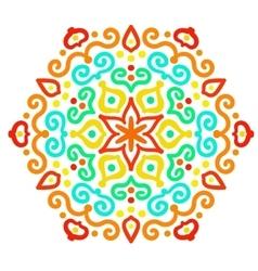 Funny Hexagon Ornament vector