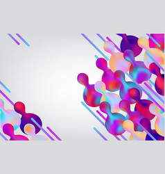 Gradient banner with fluid color abstract vector