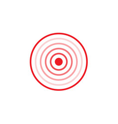 gradient circles inside red ring vector image