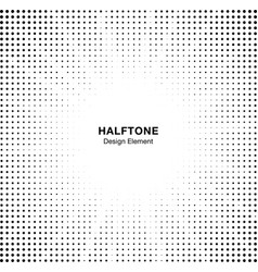 halftone star circle frame background vector image