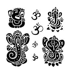 Hindu god ganesha ganapati vector