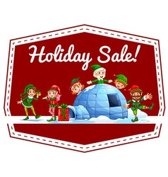 Holiday sale label vector image