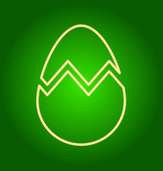 Icon broken easter egg vector