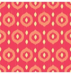 Ikat circles ethnic seamless pattern vector