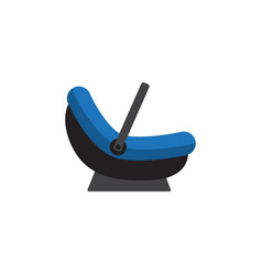 Isolated cradle flat icon pram element can vector