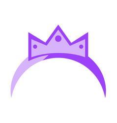 isolated princess headband vector image