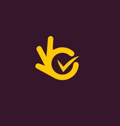 isolated unusual logo good job all vector image