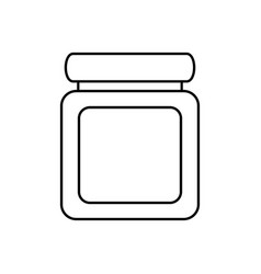 Jar pills heartly vector