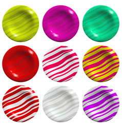 lollipop set isolated on white background vector image