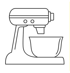 machine mixer icon outline style vector image