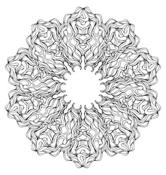 Mandala Coloring book page for adults and kids vector image