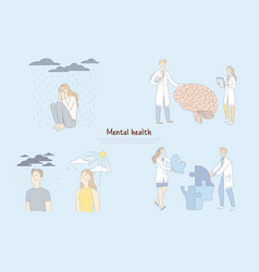 mental health problem scientists researchers vector image