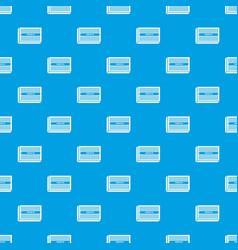 microchip pattern seamless blue vector image