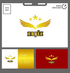 minimalist eagle logo golden concept vector image