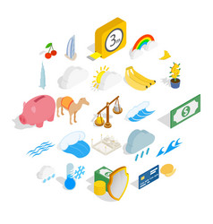 Multipurpose icons set isometric style vector