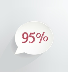 Ninety Five Percent Discount vector image