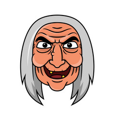 Old witcher face vector