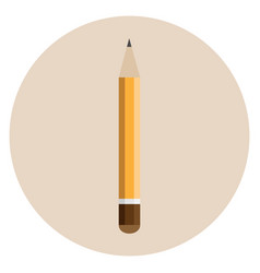 orange thick pencil vector image