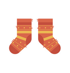 pair of warm winter socks vector image