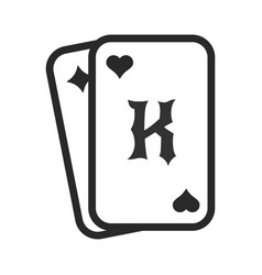 playing cards poker casino card game icon vector image