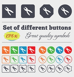pliers icon sign Big set of colorful diverse vector image