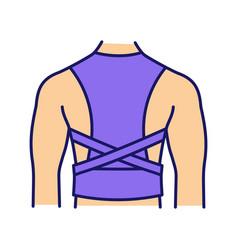 Posture corrector color icon vector