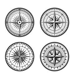 Rose winds nautical compass navigator vector