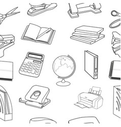 Seamless stationery pattern vector