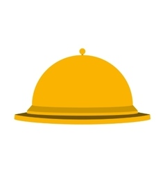 Silhouette golden with cloche food vector