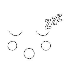 sleeping face emoji icon image vector image