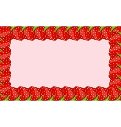 Strawberry frame vector image