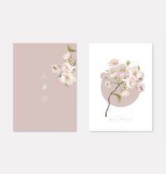 Stylish wedding invitation cards templates set vector